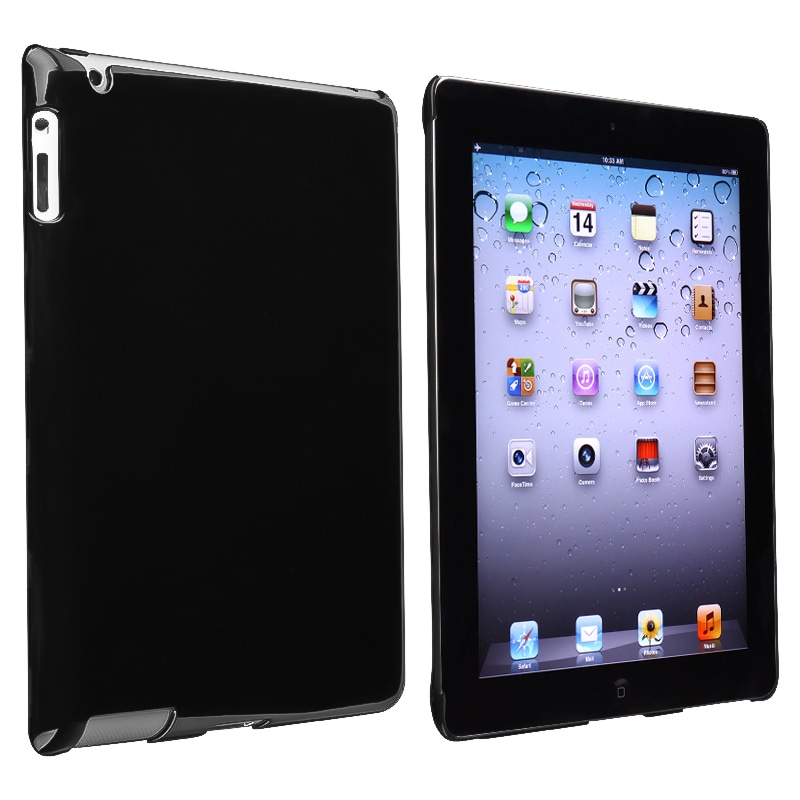INSTEN Black Snap-on Tablet Case Cover for Apple iPad 3/ 4