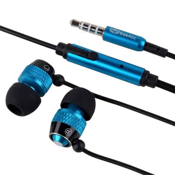 INSTEN 3.5mm Blue/ Black In-ear Stereo Headset for Apple iPhone 4S/ 5S/ 6