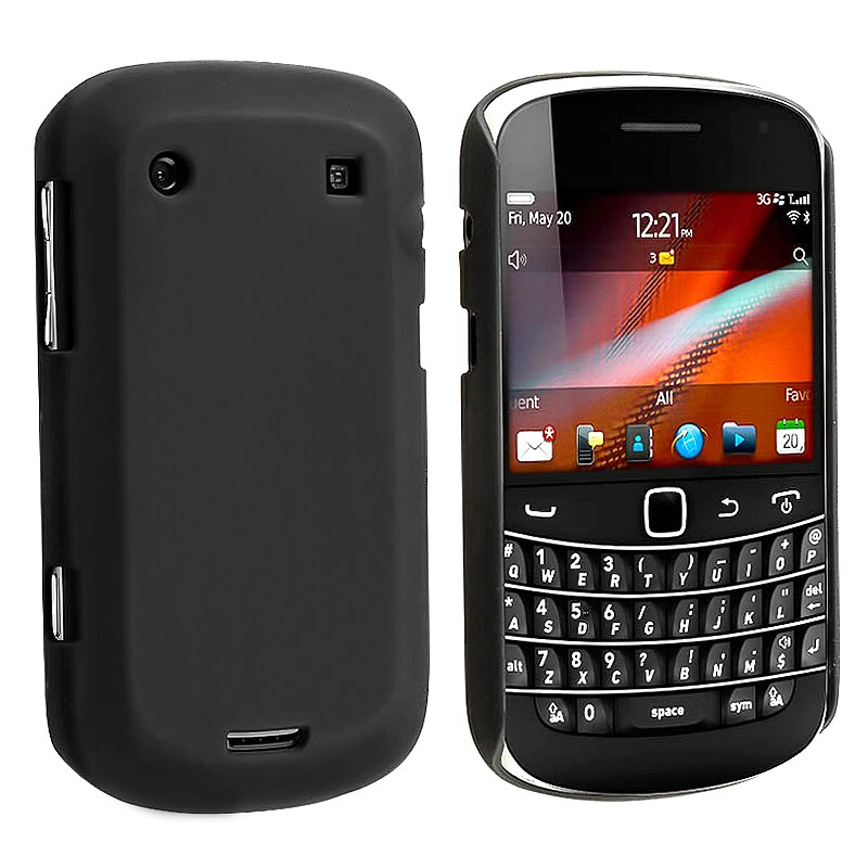 INSTEN Black Rubber Coated Phone Case Cover for Blackberry Bold 9900/ 9930