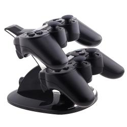 INSTEN Black Dual-charging station for Sony PlayStation 3 Controller