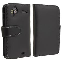 INSTEN Black Leather Card Wallet Phone Case Cover for HTC Sensation 4G - Thumbnail 2