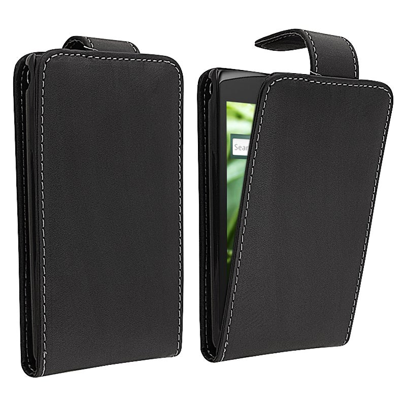 Black Leather Case for Sony Ericsson Xperia X12