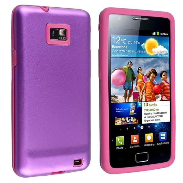 Purple Skin/ Purple Aluminum Hybrid Case for Samsung Galaxy S II i9100