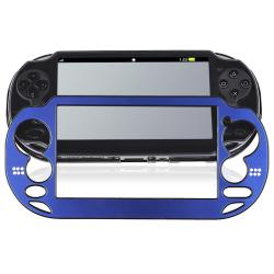 INSTEN Blue Aluminum Case Cover for Sony Playstation Vita - Thumbnail 1