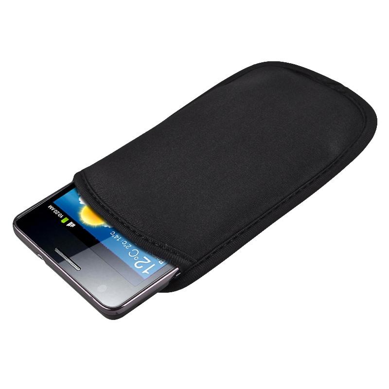 Black Soft Pouch Case for Samsung Galaxy S II i9100