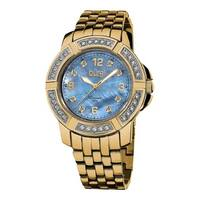 Burgi Women's Stainless Steel Diamond Gold-Tone Bracelet Gold-Tone Bracelet Watch
