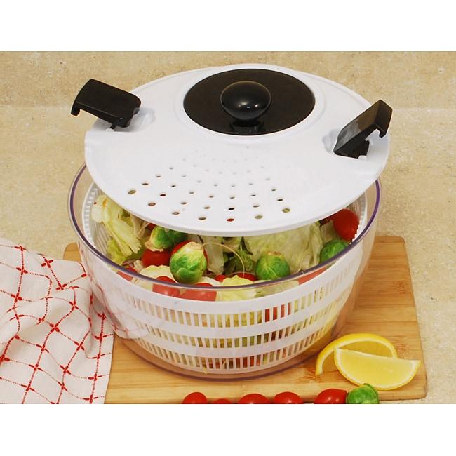 White 4.5-quart Salad Spinner
