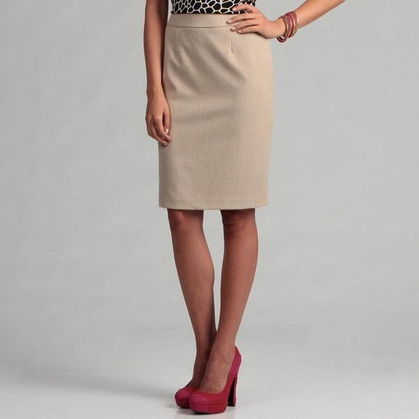 Calvin Klein Women's Sand Straight Skirt