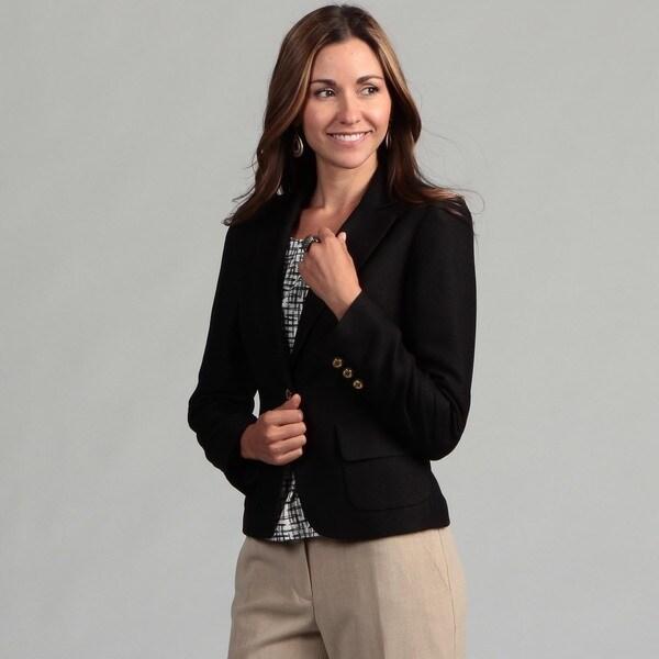 Calvin Klein Women's Black 1-button Jacket