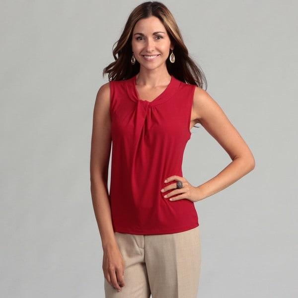 Calvin Klein Women's Red Knot Front Tank