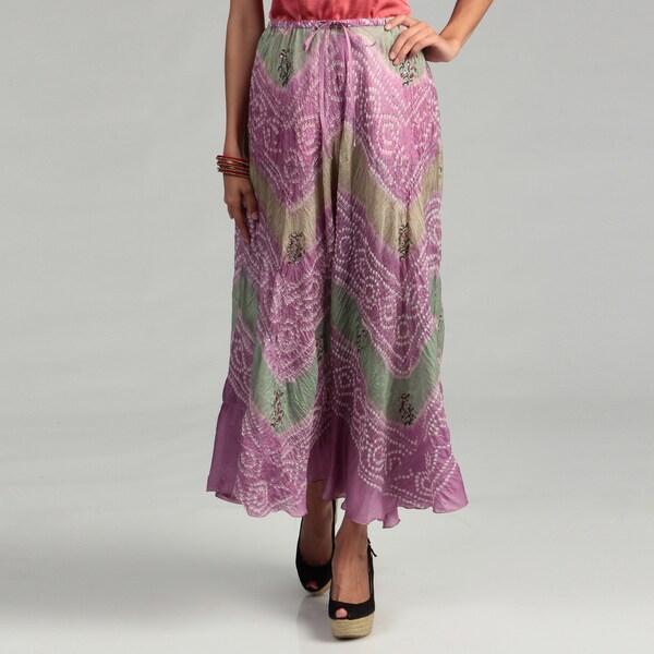 Tokyo Collection Women's Tie Dye Sequin Skirt
