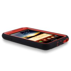 INSTEN Red/ Black Hybrid Phone Case Cover with Stand for Samsung Galaxy Note N7000/ I717 - Thumbnail 2