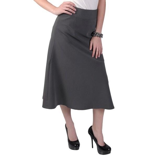 Journee Collection Women's A-line High Waist Banded Skirt