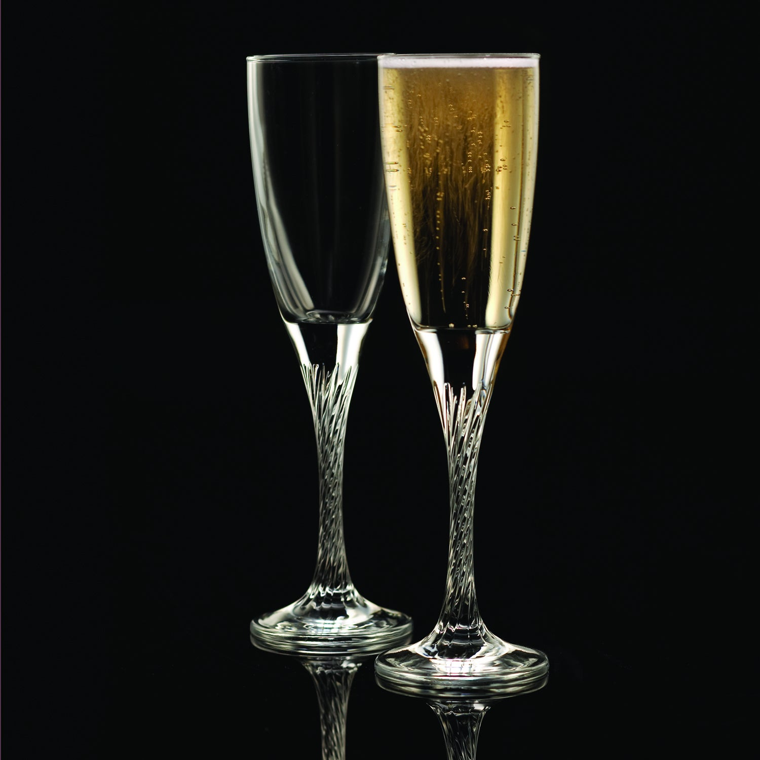 StyleSetter Private Party Twist Stem Flutes (Set of 2)
