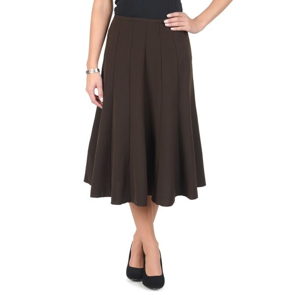 Journee Collection Women's Long Flowing Panel Skirt
