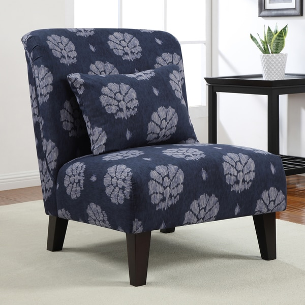 Anna Indigo Wash Accent Chair Free Shipping Today