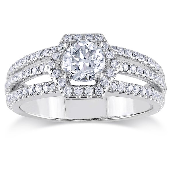 Miadora Signature Collection 14k White Gold 1ct TDW Diamond Ring (G-H, SI1-SI2)