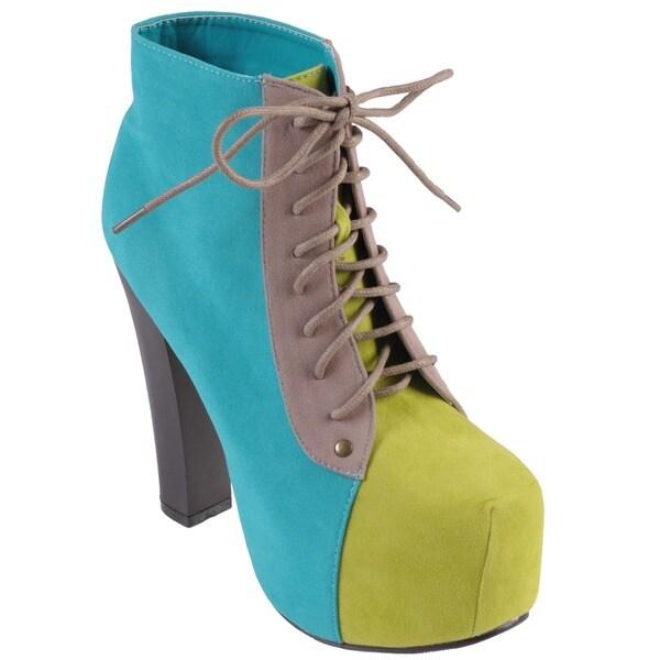 Journee Collection Women's 'Victoria-1' High Heel Sueded Bootie