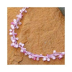 Rose Quartz Handmade 'Radiance' Beaded Necklace (Thailand)