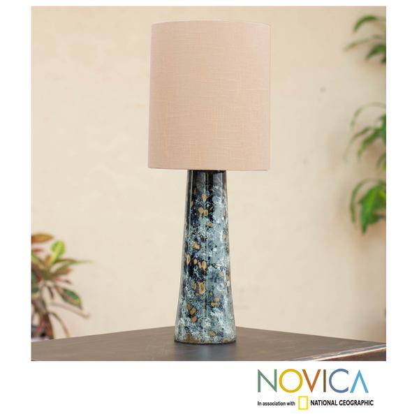 Ceramic 'Maple Forest' Lamp (Mexico)