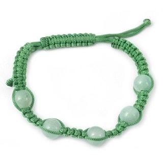 Aventurine 'Healing Love' Macrame Bracelet (India)