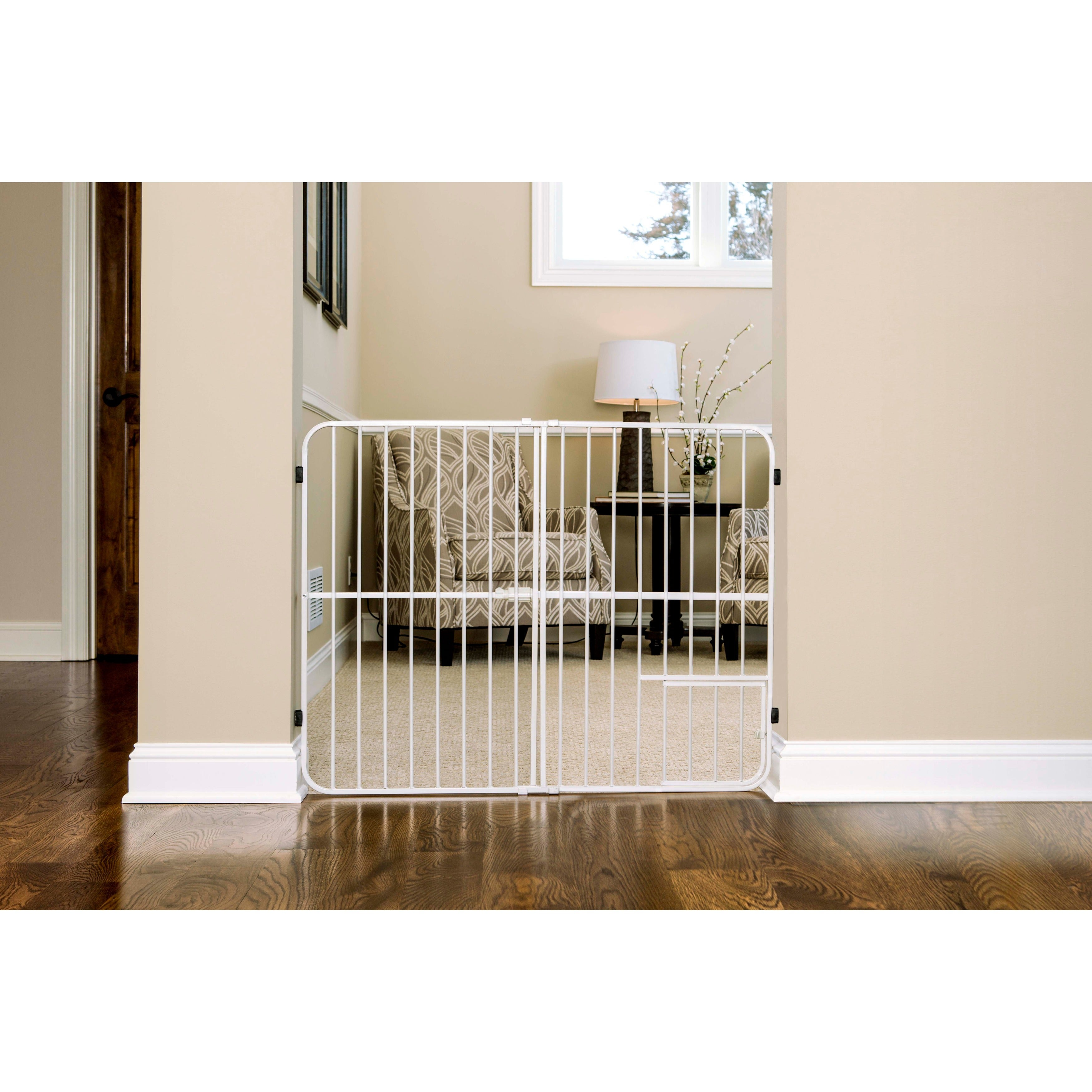 Carlson 3 Panel Freestanding Extra Tall Wood Cat And Dog Gate