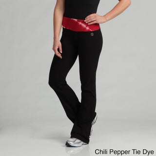 Marika Women's Tie Dye Deluxe Flat Waist Yoga Pants