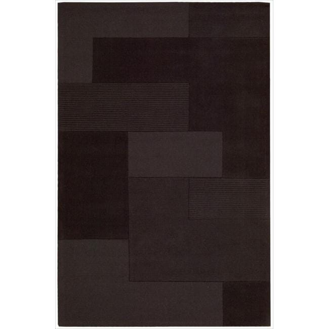 Nourison Hand-tufted Pepper Bowery Rug (5'3 x 7'5)