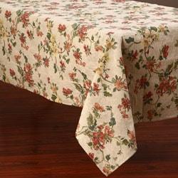 Captivating Corona Decor Floral Design 50x90 Inch Italian Heavy Weight Tablecloth