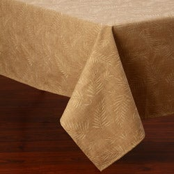 Corona Decor Palm Design 50 x 90-Inch Italian Heavy Weight Wheat Tablecloth
