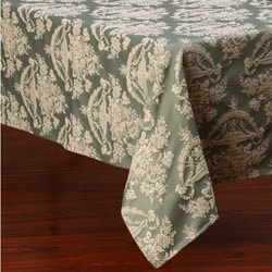 Corona Decor Pastel Green and Beige Traditional Design 50x90-inch Italian Heavy Weight Tablecloth