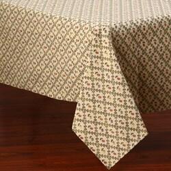 Corona Decor Green Vine Floral Design 50x90-inch Italian Heavy Weight Tablecloth