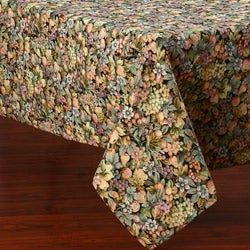 Corona Decor Multicolor Floral Design 50 x 90-inch Italian Heavy Weight Tablecloth