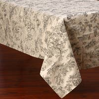 Corona Decor Black and White Traditional Design 50x90-inch Italian Heavy Weight Tablecloth