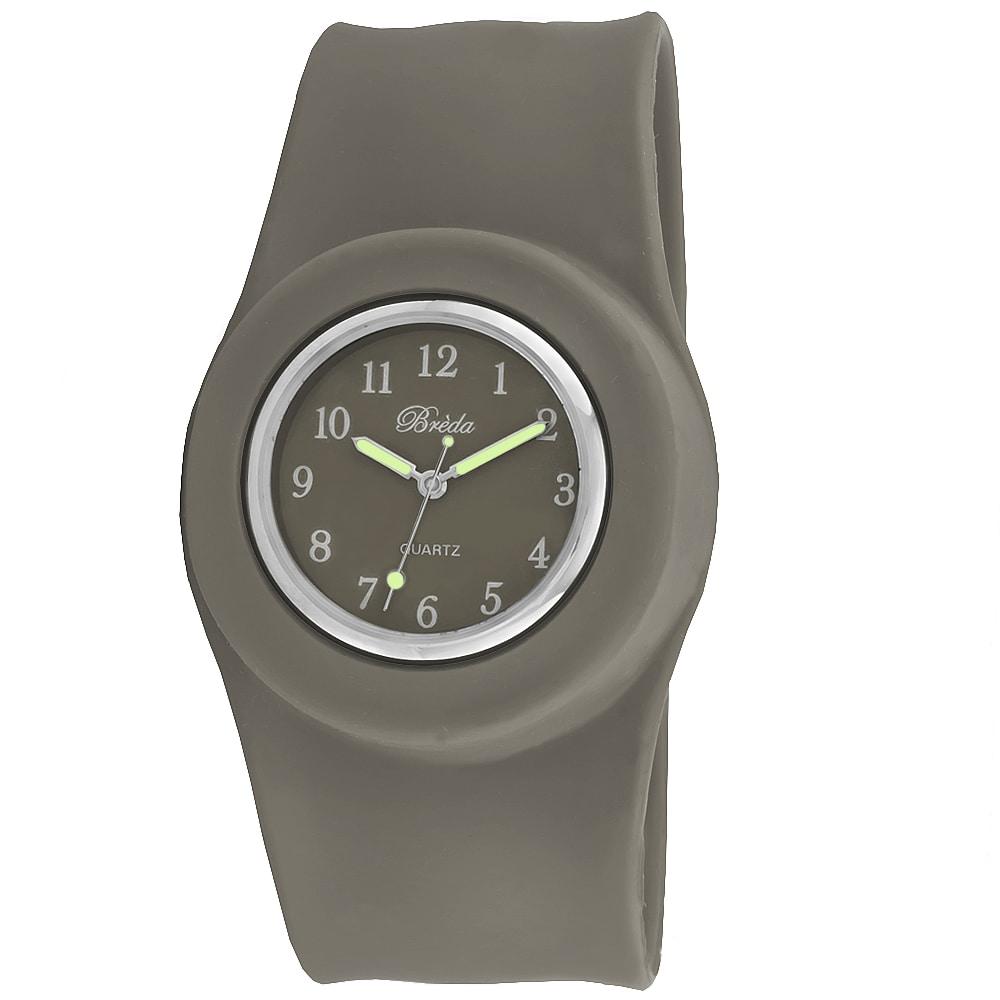 Breda Women's 'Lilly' Slap-on Gray Silicone Watch