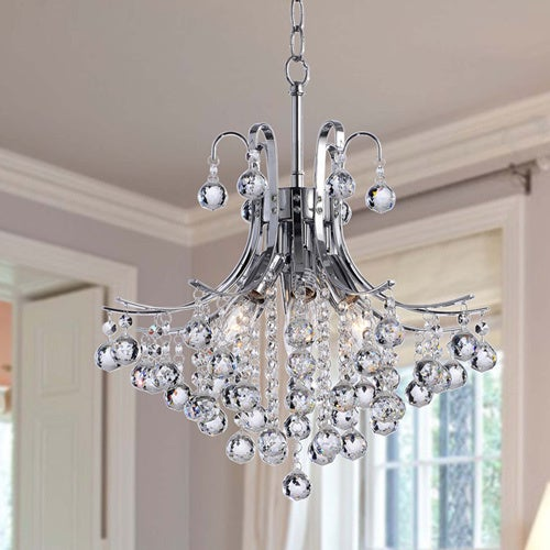 Shop Namika 6 Light Crystal And Chrome Chandelier Free