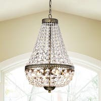 Copper Grove Sagano Symmetric 6-light Antique Copper Chandelier
