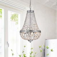 The Lighting Store Symmetric Chrome Finish Clear Crystal Accent 6-light Chandelier