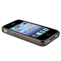 Black Dog Paw Foot Print TPU Rubber Skin Case for Apple iPhone 4/ 4S - Thumbnail 1