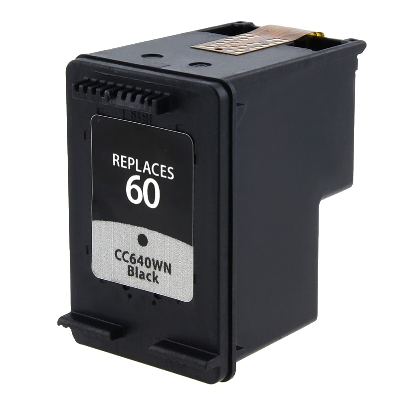 INSTEN HP 60/ CC640WN Black Ink Cartridge (Remanufactured)