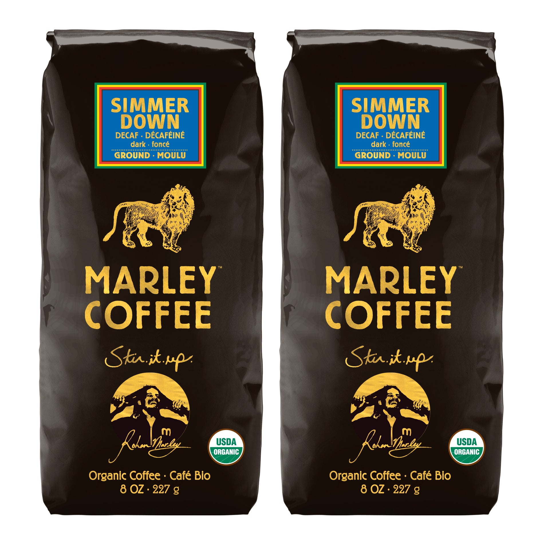 Marley Coffee Simmer Down Swiss Water Decaf Ground Coffee (1 Pound)