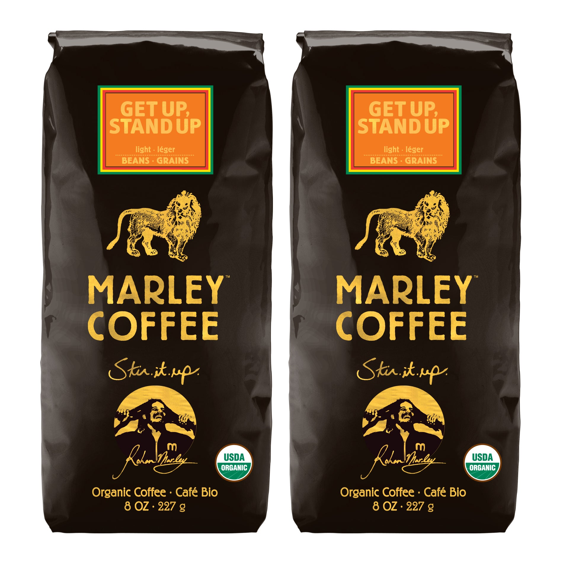 Marley Coffee Get Up Stand Up Whole Bean Coffee (1 Pound)