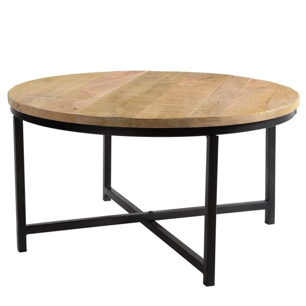 Abbey Round Coffee Table - 19 x 35 x 35 inches. Opens flyout.
