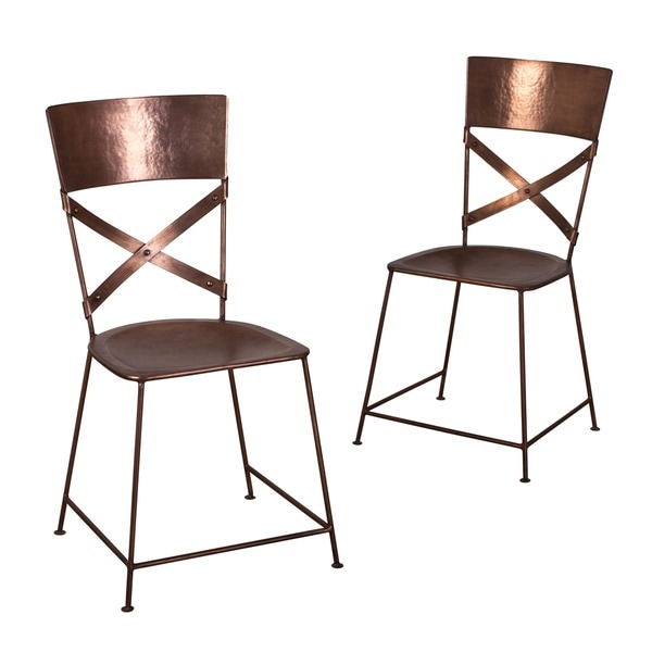 Handmade Set of Two Jabalpur Dining Chair Copper (India)