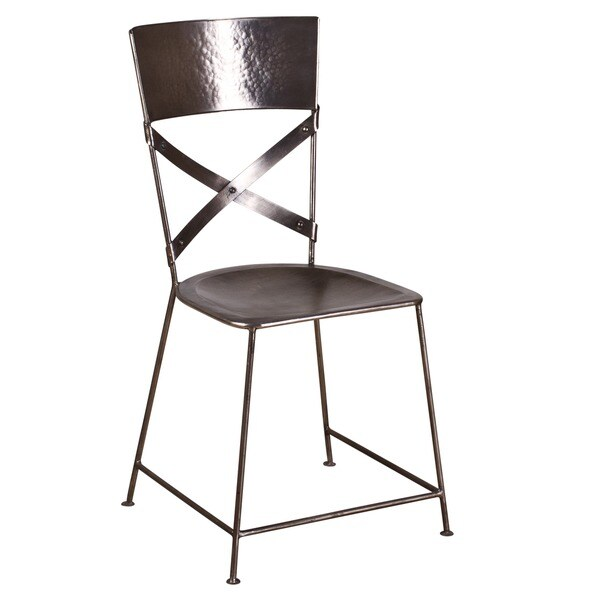 X-Back Nickel Dining Chair