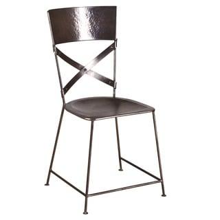 X-Back Nickel Dining Chair