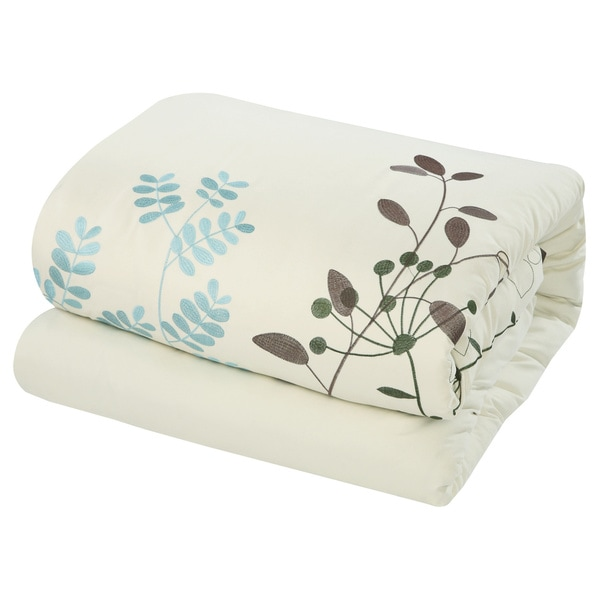 Bliss Garden 8 Piece Beige Oversized Comforter Set   Free Shipping Today    Overstock.com   14260973