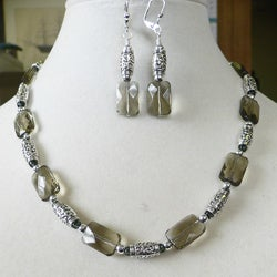 'Sienna Mist' Necklace and Earring Set