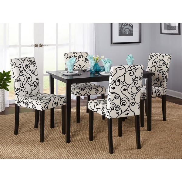 simple living sophia 5 piece parson dining set free