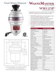 WasteMaster WM125P_1_20 1/4 HP Food Waste/ Garbage Disposal with Air Switch
